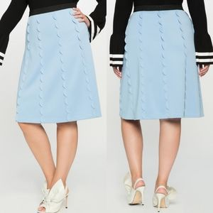 Eloquii | Blue Studio Scalloped A-line Skirt